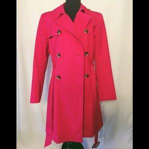 Jackets & Blazers - Liz Claiborne trenchcoat Size large rose color